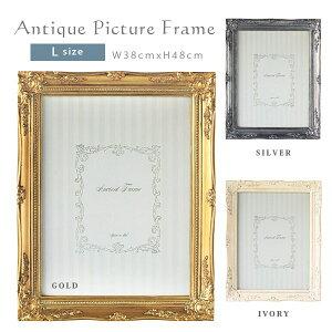 人気の額縁のガラス付きタイプ!アイボリー,ゴールド,シルバー,グレーの4色です♪写真立て/壁掛...