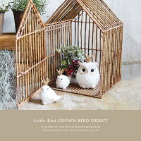 LittleBirdアンティーククラウンリトルバードオブジェ≪A/B≫置き物ディスプレイ小鳥インテリア雑貨【あす楽対応】