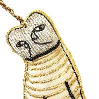 ザリ刺繍キーホルダー≪ネコ≫アニマルチャーム【ゆうパケット可300円】【あす楽対応】