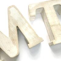 アルファベットオブジェ≪A〜L≫イニシャルオブジェH12cm木製アンティークホワイト文字英語置物白英文字レターサインディプレイウェルカムボード【あす楽対応】