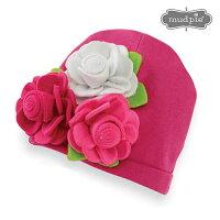 MudpieマッドパイマッドパイPINKKNITCAPフェルトフラワーニット帽(ライトピンク・ホットピンク・ライトピンク)【メール便可170円】【あす楽対応】【出産祝い】【贈り物】