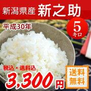 新潟県産新之助(しんのすけ)白米5kg