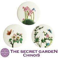 THE-SECRET-GARDENシノワズリ蓋付小物入れ陶器全3種類花鳥柄オールハンドペイント宝石箱アクセサリーケース