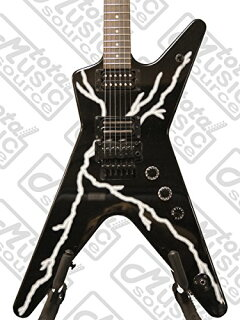 ディーン-Dimebag-ブラック-Lightning-Bolt-ML-Electric-Guitar,-Floyd-ローズ-バンドル,-BBOLTF