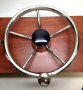 マリーン ボート 5 SPOKE STEERING WHEEL W/ TURNING KNOB 13 1/2