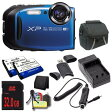 Fujifilm FinePix XP80 16.4 MP CMOS WiFi 防水 デジタル Camera (Blue) + EN-EL10 リプレイスメント Lithium イオン バッテリー + External Rapid Charger + 32GB SDHC クラス 10 Memory Card + Carrying ケース + SDHC Card USB リーダー + M 「汎用品」(海外取寄せ品)