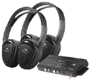 SPL HP902RFT Swivel Ear Pad 2-Channel RF 900MHz Wireless Headphones with Transmitter - 2 ペ...