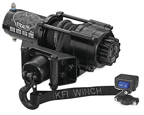 New KFI 2500 lb ステルス Edition Winch & Model Specific Mounting Bracket - 2002-2005 Arctic ...