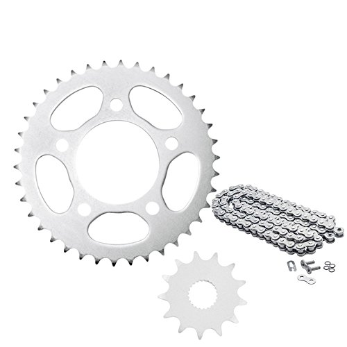 O-リング チェーン & スチール Sprocket キット - フィット: Kawasaki KLX400R 2003 (海外取寄せ品...