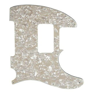 Fender-4-Ply-8-Hole-Pearloid-Pickguard-for-HS-Telecaster-Electric-Guitar,-エイジ-ホワイト