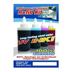 Gigablock CIS Refill キット with 4 カラー UV(Ultra Violet) resistant Ink for Continuous Ink System of Epson NX420 Printer (海外取寄せ品)