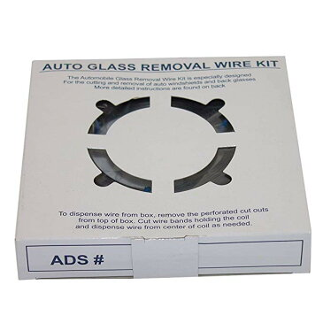 Windshield オート ガラス Removal Wire キット 853' ft ステンレス スチール Piano Wiring w/4 ハンドル for ウィンドウ ガラス Cutting Repair Disposal (海外取寄せ品)[汎用品]