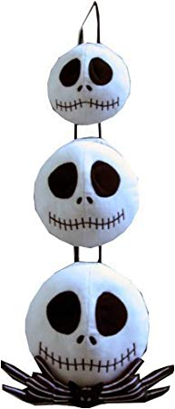 Neca ナイトメア ビフォア クリスマス Nightmare Before Christmas トリプル ハンギング Heads Plush (Discontinued by manufacturer) (海外取寄せ品)画像