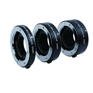 Movo Photo AF Macro エクステンション チューブ セット for Fujifilm X-Mount Mirrorless Cameras with 10mm, 16mm & 21mm チューブ (海外取寄せ品)