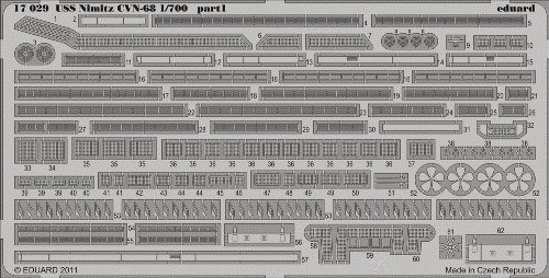 おもちゃ, その他 USS Nimitz CVN-68 detail for TSM 1700 Eduard ()