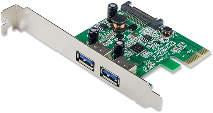 2-Port USB 3.0 Pci-E X1 with 15-ピン SATA Power Connector - Expand Another Two USB 3.0 Ports (海外取寄せ品)画像