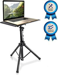 Pyle Laptop Projector Stand, Heavy Duty Tripod Height アジャスタブル 28'' To 46'' For DJ Presentations ノート コンピューター (海外取寄せ品)
