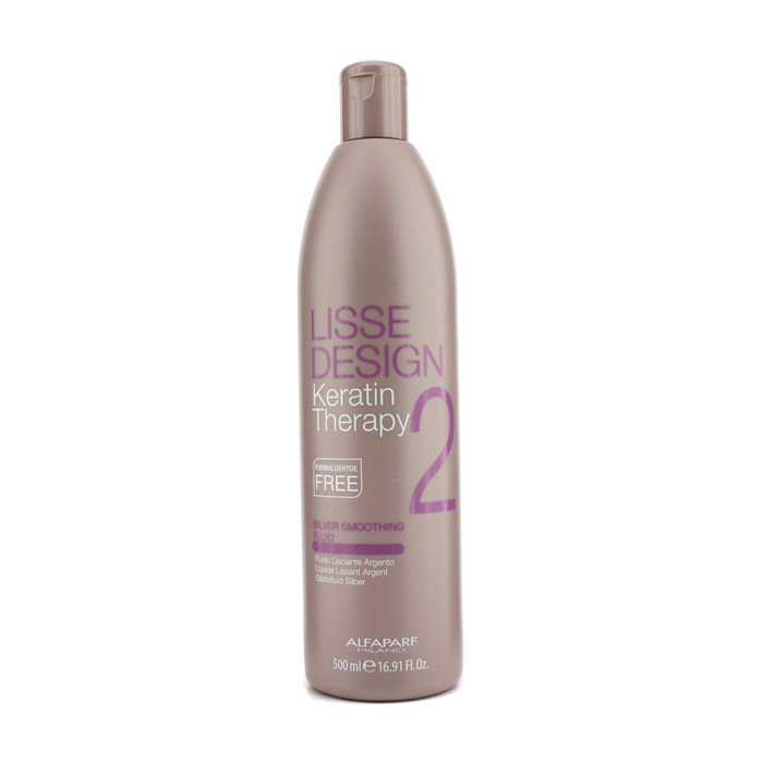 AlfaParfLisse Design Keratin Therapy Silver Smoothing Fluid (For Blonde / Highlighted Hair)アルファパルフリッス デザイン ケラチン セラピー シルバー スムージング フリュイド (金髪/ハイライトを入れた髪用) 500ml/16.91oz