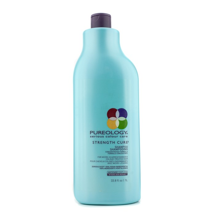 PureologyStrength Cure Shampoo (For Micro-Scarred/Damaged Colour-Treated Hair)ピュアロジーストレングスキュアシャンプー (ダメージを受けた/カラーリングした髪用) 1000ml/33.8oz