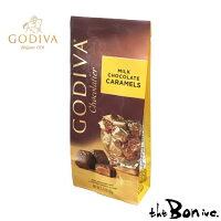 キャラメルミルクバックGODIVAゴディバキャラメルミルクアメリカチョコレートチョコ高級ブランド一粒づつ163gボンボン商会大阪theboninc