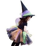 ハロウィン衣装ハロウィン衣装子供用帽子付き魔女女の子コスプレ仮装コスチュームジュニア子供ハロウィーンイベントパーティー悪魔女の子魔女魔法使いキッズコスプレ衣装プチ仮装万聖節チュール激安セール