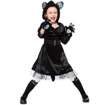 ハロウィン 衣装 子供 猫女 ネコ 黒猫 コスプレ衣装 子供用 キッズ 女の子 猫ちゃん ネコ耳 メイド 仮装 コスチューム コスプレ キャラクター衣装 パーディー服 動物服 文化祭 演劇 Halloween衣装 仮装変装 cosplay ハロウイングッズ 動物の着ぐるみ