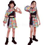 ヒップホップダンス衣装セットアップキッズダンス衣装男の子女の子派手ジャケットパンツ韓国K-POP