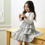 ワンピース女の子夏フレア韓国子供服可愛いワンピース膝丈ノースリーブ送料無料110120130140150160