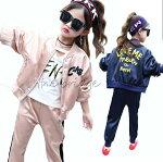 韓国子供服セットアップ子ども服秋冬子供服アウターパンツ上下韓国風パーカーキッズスポーツウェア女の子通学セール