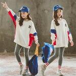 子供服セットアップ女の子上下韓国子ども服パンツセットスポーツウェアスウェットトレーナーカジュアル春秋sale激安