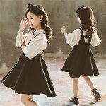 子供服セットアップスーツ女の子フォーマル上下入学式キッズスーツ可愛い韓国卒業式子ども服ガールズワンピース+シャツ通園通学卒業子供服送料無料
