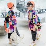 キッズ子供服トップス派手シャツ韓国子ども服ヒップホップキッズダンス衣装子供男の子かっこいいゆるシャツ