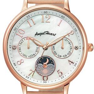 エンジェルハートトゥインクルタイムTT33PPKレディース腕時計ソーラー革ベルトホワイトパールスワロフスキーピンク橋本環奈さん着用モデル