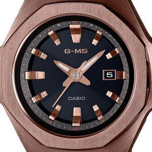 《10月9日発売/予約》BABY-GベビーGG-MSジーミズMSG-W350CG-5AJFレディース腕時計電波ソーラーオクタゴンベゼル八角形ダークブラウン国内正規品カシオ