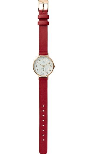 チェンノスタンダード9ZR009RH01レディース腕時計クオーツ革ベルトホワイト防水リズム時計