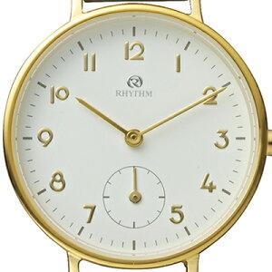 チェンノスタンダード9ZR009RH08レディース腕時計クオーツ革ベルトホワイト防水リズム時計