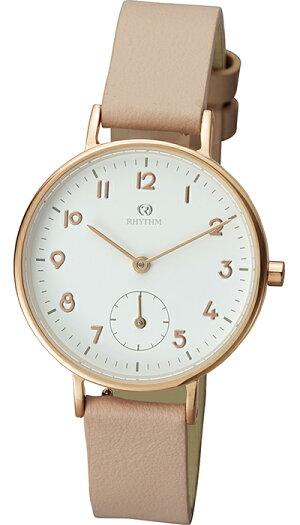チェンノスタンダード9ZR009RH13レディース腕時計クオーツ革ベルトホワイト防水リズム時計