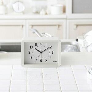 リズムAシリーズクオーツ掛置兼用目覚まし時計A6サイズホワイト8RE675SR03インテリア