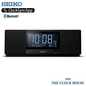 セイコー マルチサウンドクロック 目覚時計 置時計 ブラック Bluetooth USB ラジオ スピーカー SS501K 音楽のある生活を愉しむ 新世代スピーカークロック