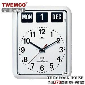 TWEMCOトゥエンコパタパタ時計フリップクロックパーペチュアルカレンダー電波時計RC-12AWHITE