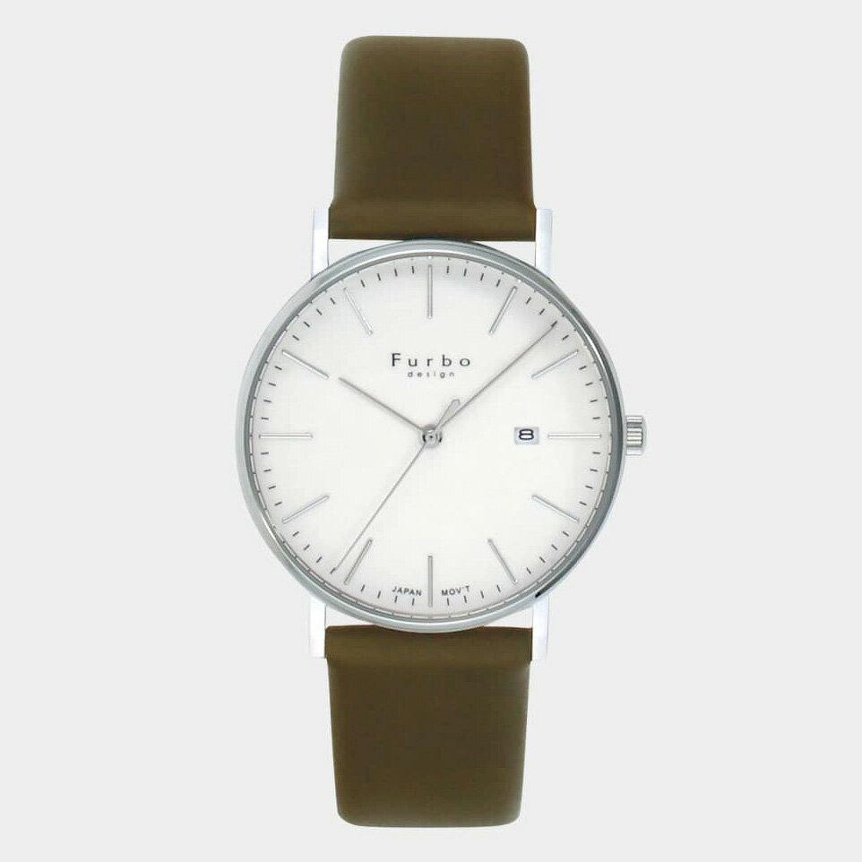 フルボデザイン F02-SWHLG Furbo design 腕時計 メンズ F02 クォーツ 3針 Furbo フルボ メンズウォッチ クオーツ 革ベルト 入学 入社 就職 祝い 新生活 就活