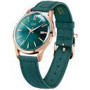 ヘンリーロンドン ストラトフォード HL39-S-0134 メンズ 腕時計 クオーツ ペアモデル 緑レザー グリーン 3