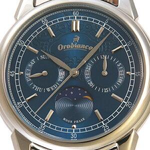 オロビアンコビアンコネーロOR0074-5メンズ腕時計革ベルトクオーツムーンフェイズブルー