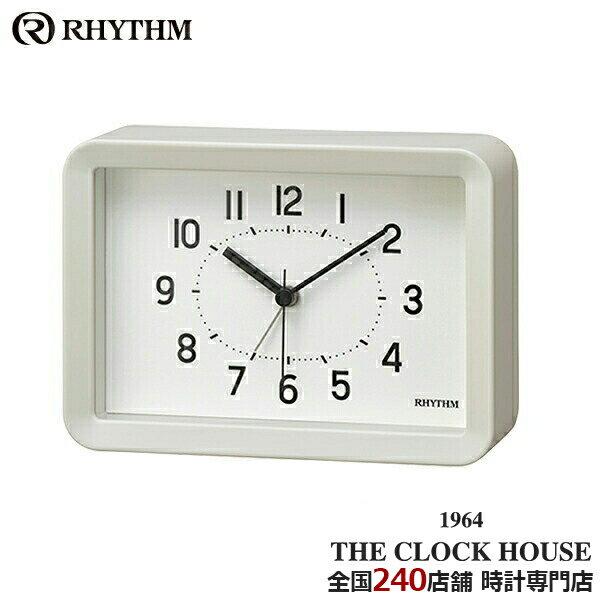 リズム プラス Aシリーズ クオーツ 掛置兼用 目覚まし時計 A6サイズ ホワイト 8RE675SR03 インテリア