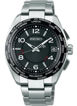 セイコーブライツ20周年記念限定モデルSAGZ107メンズ腕時計ソーラー電波チタンブラックシルバー