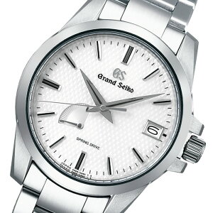グランドセイコースプリングドライブ9Rメンズ腕時計SBGA225ホワイトカレンダーパワーリザーブ