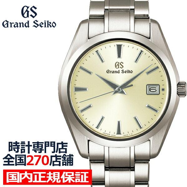 最大35.5倍&最大5000円OFFクーポン グランドセイコークオーツ9Fメンズ腕時計SBGV229シルバーチタンベルトスクリ