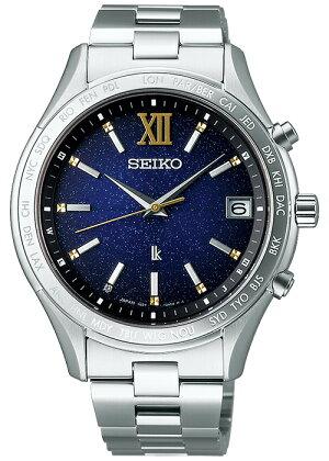 セイコールキア2020エターナルブルー限定モデルSSVH033メンズ腕時計ソーラー電波ラッキーパスポート