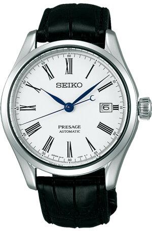 セイコープレザージュSARX049メンズSeikoPresageメカニカル自動巻(手巻つき)ほうろうダイヤルクロコダイル革ベルトトノー型腕時計