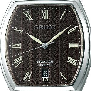 セイコープレザージュジャパニーズガーデンSARY113メンズ腕時計メカニカル自動巻き革ベルトブラウントノー
